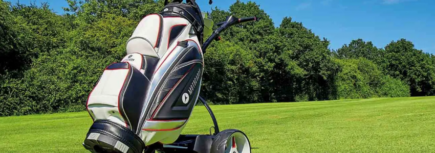 Remote controlled electric golf trolley